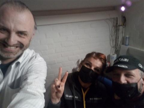 Rudy Gybels met Ilse en Gianni