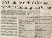 Artikel: 363 lokale radio's krijgen zendvergunning van 9 jaar