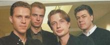 De 4 oprichters van 4 FM: Wim Weetjens, Jan Caerts, Stefan Ackermans en Dirk Guldemont.