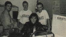 Yasmine op bezoek in de studio, 1991