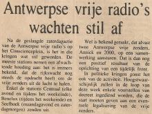 Artikel: Antwerpse Vrije Radio's wachten stil af