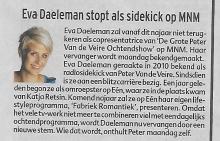 Eva Daeleman, 23 augustus 2012