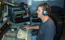 Geert Deknudt in de live-studio, 2003