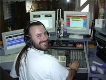 Rudy Gybels in de live-studio, 2003