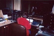 Karin tijdens haar programma op donderdagavond (februari 2005)