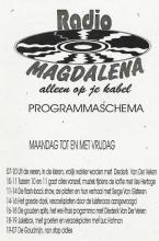 Radio Magdalena, programmatie weekdagen