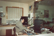 Peter De Graef in 1989 als gast dj tijdens de Top 1000 allertijden.