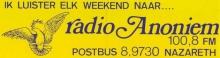 Radio Anoniem Nazareth FM 100.8