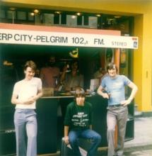 Braderij in de Abdijstraat te Antwerpen op donderdag 30 juli 1981