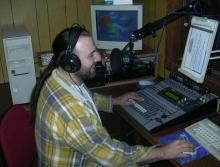 Rudy Gybels in de opname-studio, 2003