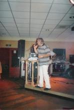Roger tijdens een optreden in Lommel, oktober 2000