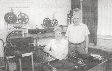 Hugo Van Limburg & Germaine in de Radio VELM live-studio (halverwegen jaren 90)