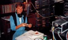 Willy Sommers als presentator voor X-Tra FM, 1989